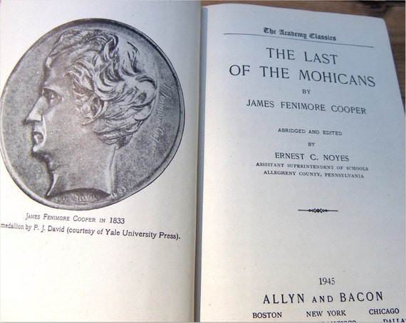 The Last Of The Mohicans Historical Novel 1945 James Etsy