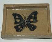 Handmade Stoneware Butterfly Soap Dish