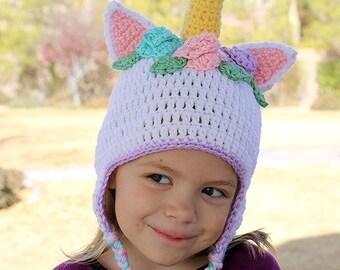 Crochet Unicorn Hat - Baby Unicorn Hat - Gift Idea - Adult Unicorn Hat - Child Unicorn Hat - Photo Prop - Halloween Costume Hat