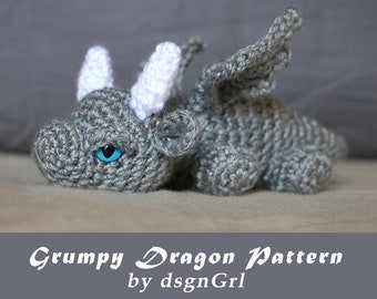 Crochet Dragon Etsy