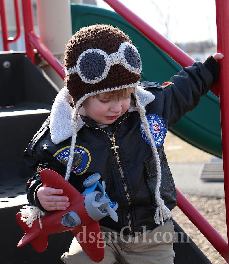 Aviator Goggles Hat  Air Force Pilot Hat  Aviator Hat  image 0