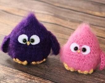 Grumpy Baby Birds - Crochet Amigurumi Birds - Gift Idea - Stocking Stuffers - Fuzzy Baby Bird Toy - Crochet Chick - Easter Basket Toy