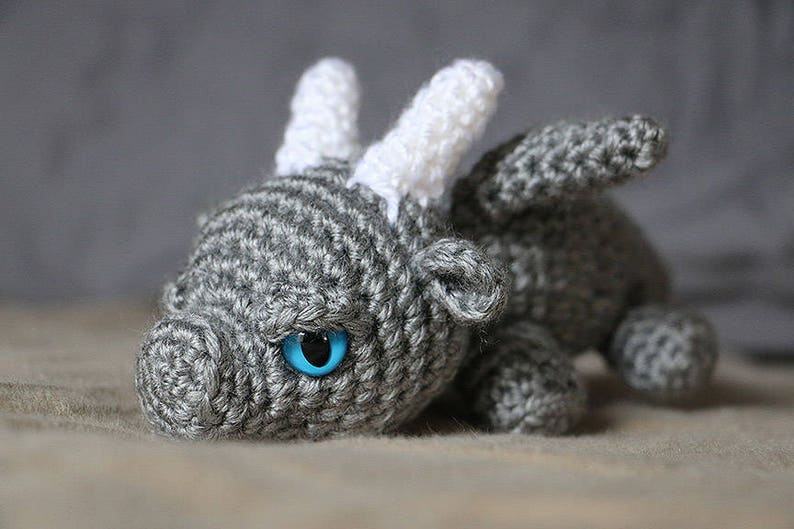 Baby Dragon  Crochet Dragon  Crocheted Dragon Toy  image 0