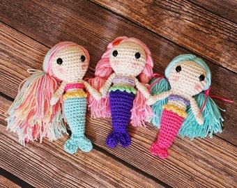 Crocheted Mermaid Doll - Amigurumi Mermaids - Crochet dolls - Gift for Girls - Cute Mermaid Dolls - Gift Ideas - Little Mermaid Dolls