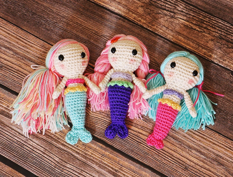 Crocheted Mermaid Doll  Amigurumi Mermaids  Crochet dolls  image 0