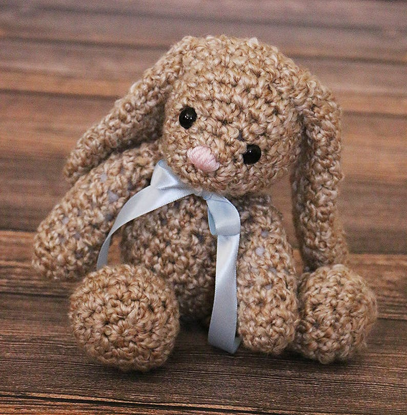 Cute Floppy Bunny Toy  Crochet Baby Bunny Toy  Easter Gift  image 0