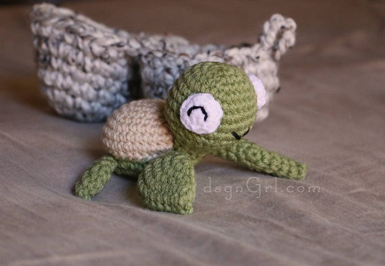 Sea Turtle Amigurumi Toy with Egg  Turtle in Egg  Ocean Play image 0