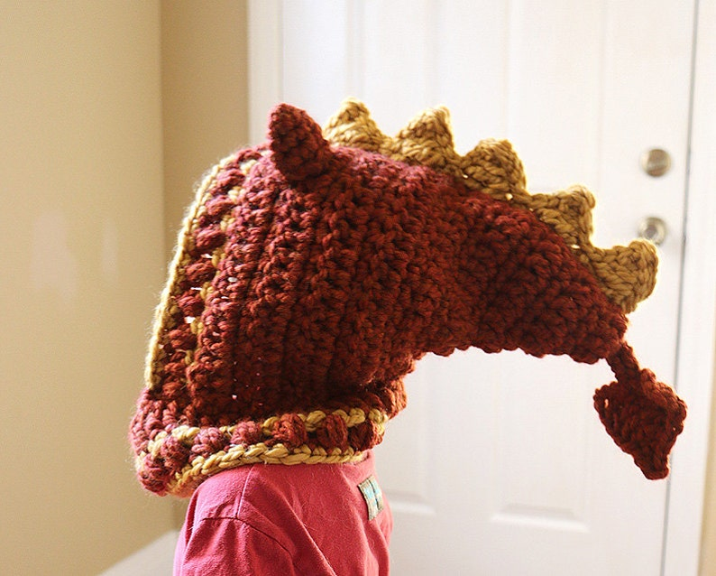 Dragon Hooded Cowl  Dragon hat  Adult Dragon Hat  Child image 0