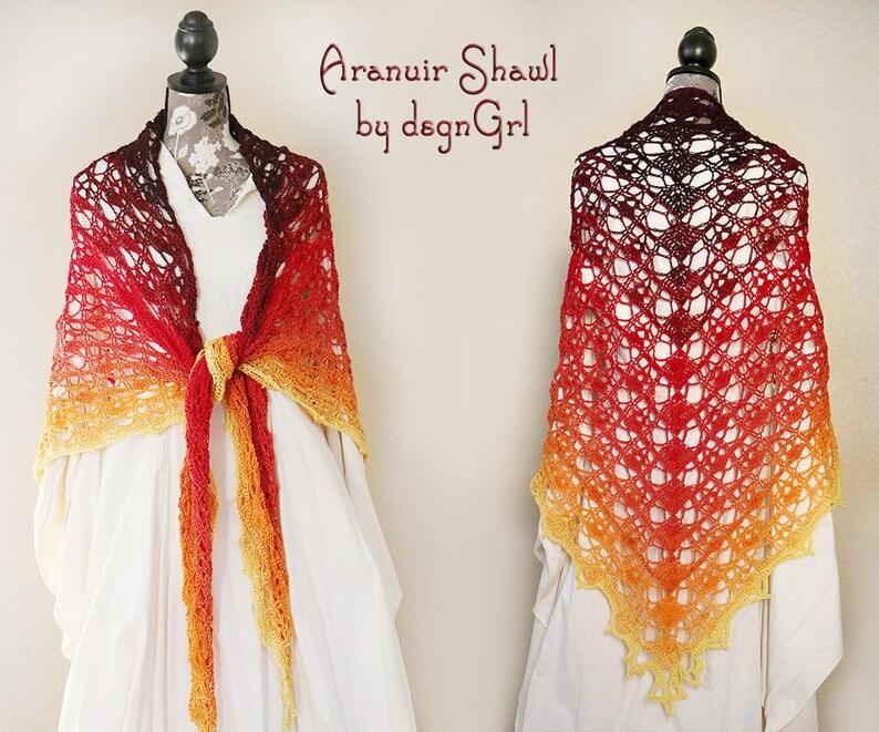 Crocheted Aranuir Shawl  Great Gift  Ladies Shawl  image 0
