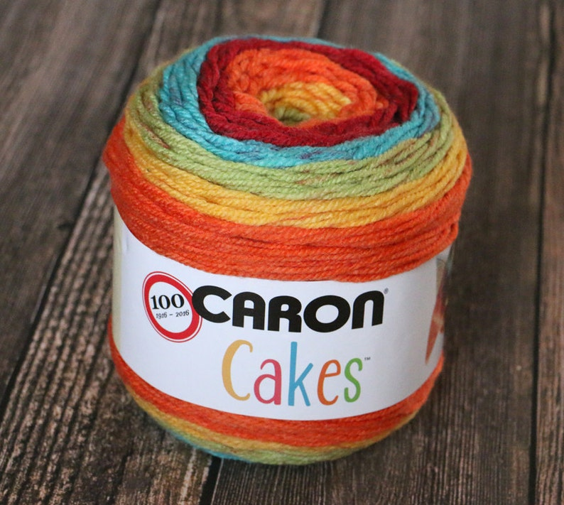 Caron Cakes Yarn  Rainbow Sprinkles  Wool Blend Yarn  image 0