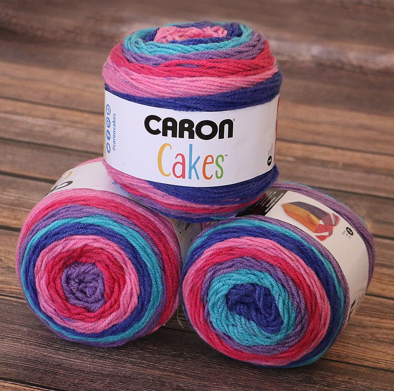 Caron Cakes Yarn  Mixed Berry  NEW Color  Wool Yarn  image 0