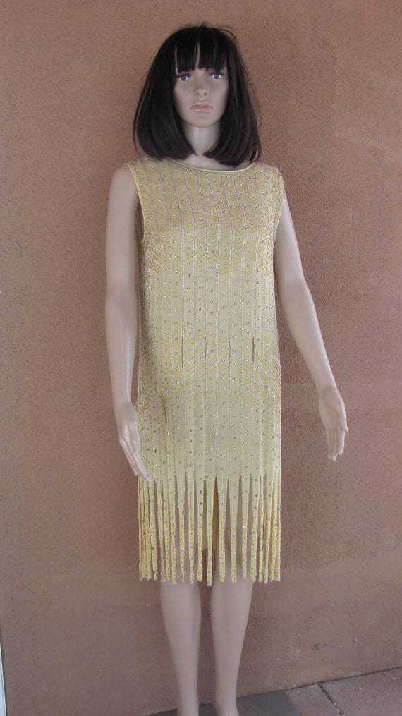 Authentic Vintage 1920's Beaded and Sequined Fring