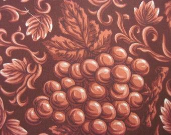 Red Burgundy Grape Fabric 1 1/2 yd.