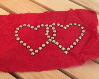 1970's Stud Heart applique
