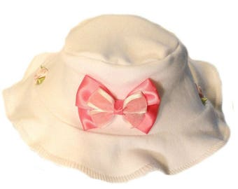97d1914743c Little Beauty Baby Girl Sun Hat. 6 Sizes Preemie