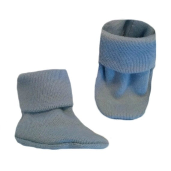 5 Preemie and Newborn Sizes Crib Shoe Socks Unisex Baby Royal Blue Booties
