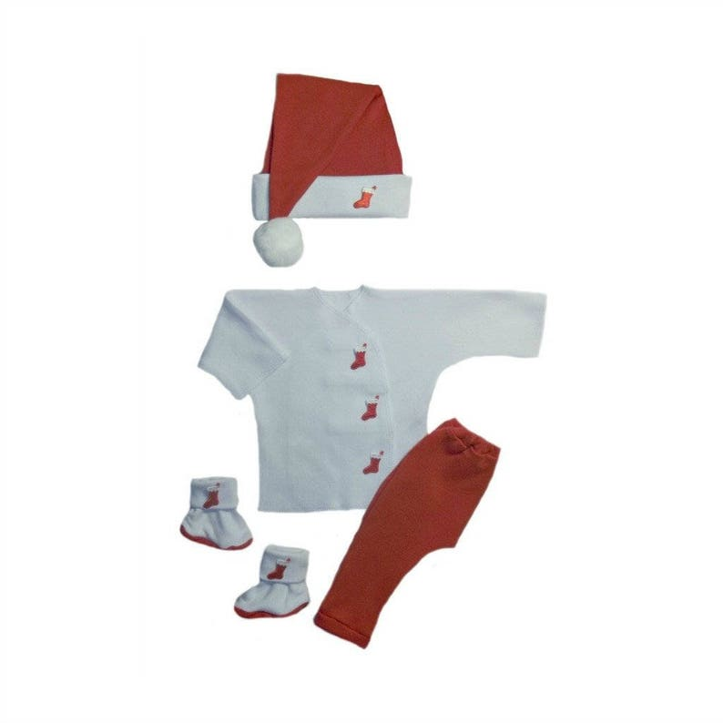 Christmas Peppermint Unisex Baby Santa Clothing 4 Preemie and Newborn Sizes