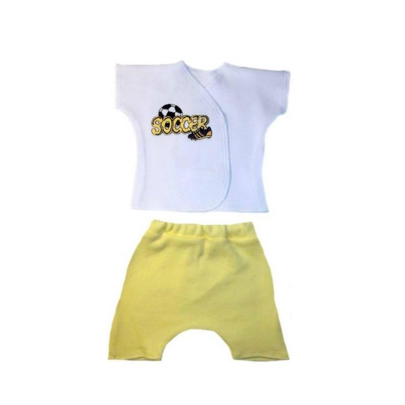 3b93619dd58 Baby Boy s Soccer Star Shirt and Shorts Clothing. 4 Sizes