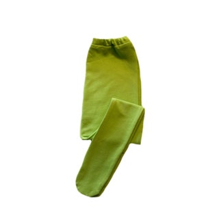 Lime Green Baby Girl Tights 6 Sizes for Preemie, Newborn and Toddlers up to 24 Months. Cotton Spandex for a Soft Stretch, Elastic Waist.