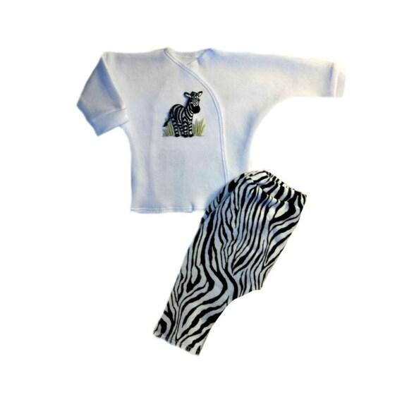 Zany Zebra Baby Girl Cotton Lycra Tights 6 Preemie Newborn and Toddler Sizes!