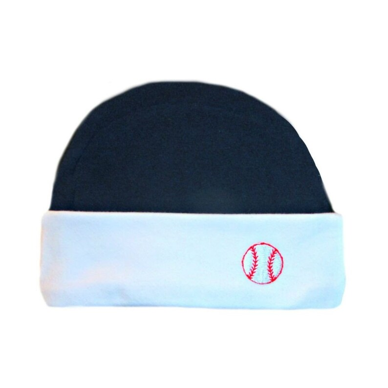 09717749b86 Baby Boys  Blue and White Baseball Capped Hat. 5 Sizes for