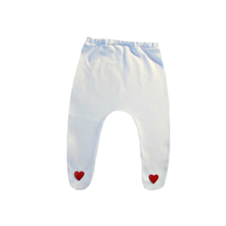 183a3042a0546 Baby Girl White Tights with Red Hearts. 6 Preemie Newborn and   Etsy