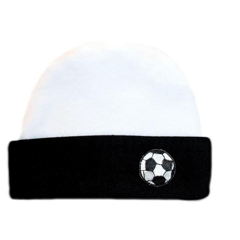 9da25382878 Baby Boys  Soccer Ball Black Hat. 5 Sizes for Preemie