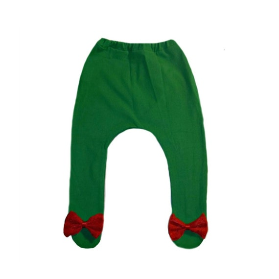 Jacquis Baby Girls Green Tights with Beautiful Red Lace Bows 5 Sizes