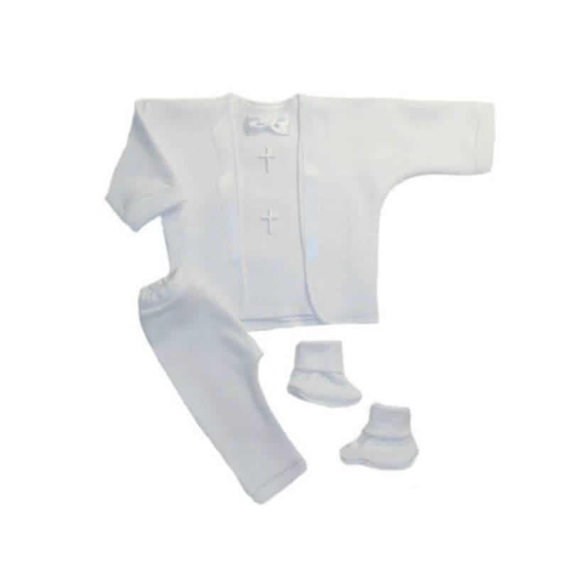 e17d79fed Baby Boys' White Christening Tuxedo Suit with White | Etsy