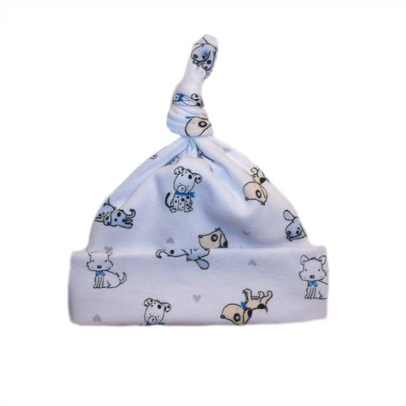Baby Boys White Knotted Hat with Soccer Ball Toddler Sizes Newborn 7 Preemie