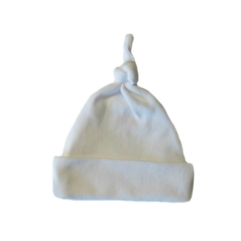 7 Preemie Newborn Toddler Sizes Red Ribbed Double Knotted Unisex Baby Hat
