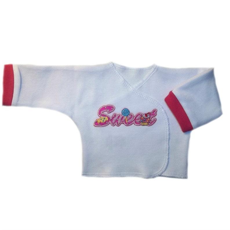 c6b29c27fa4d Baby Girl Sweet Long Sleeve Shirt. 4 Top Sizes for NICU Micro