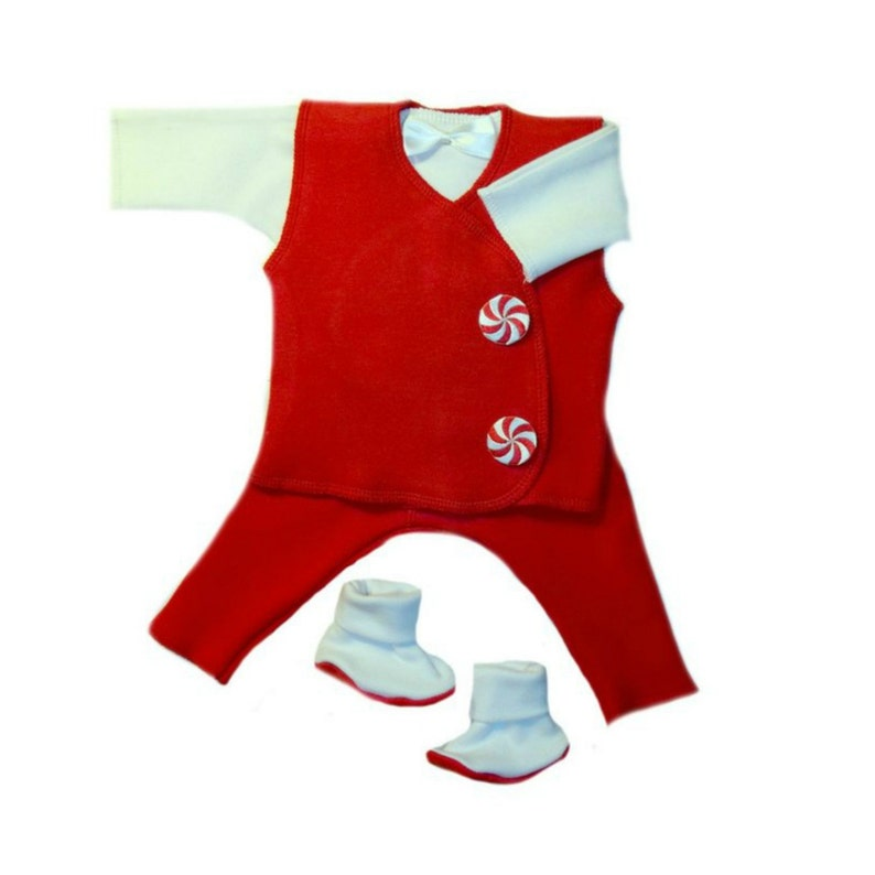 f6265b4c49532 Baby Boy Red Peppermint Christmas Vest Suit 4 Micro Preemie | Etsy