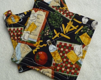 country living Handmade Chicks and Chickens Hot Pads cooking accessory kitchen accessory unique gifts quilted trivet insulated fabric