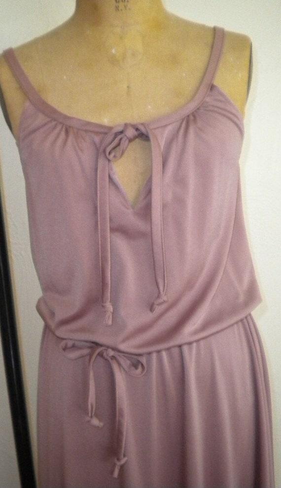 1970's Mauve Quiana Knit Vintage Dress and Shirt S