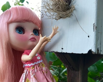 Sweetpea - OOAK Blythe Custom Doll - Dogflower Designs