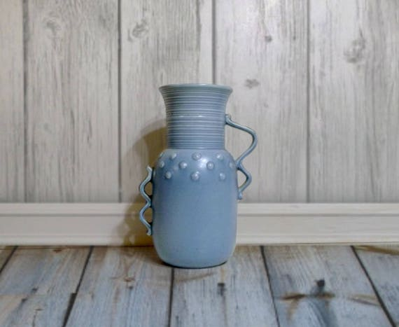Red Wing Pottery Vase Blue Redwing Pottery Vase Red Wing Etsy