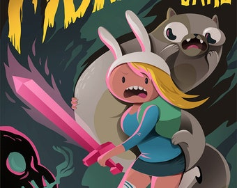 ADVENTURE TIME Fionna and Cake Video Game Poster