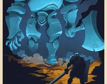 Black Iron Tarkus Video Game Art Poster
