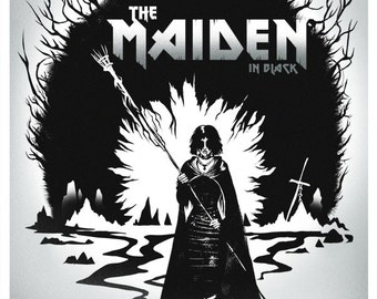 MAIDEN IN BLACK Video Game Poster