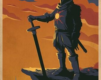 Welcometo Lordran Video Game Poster Art