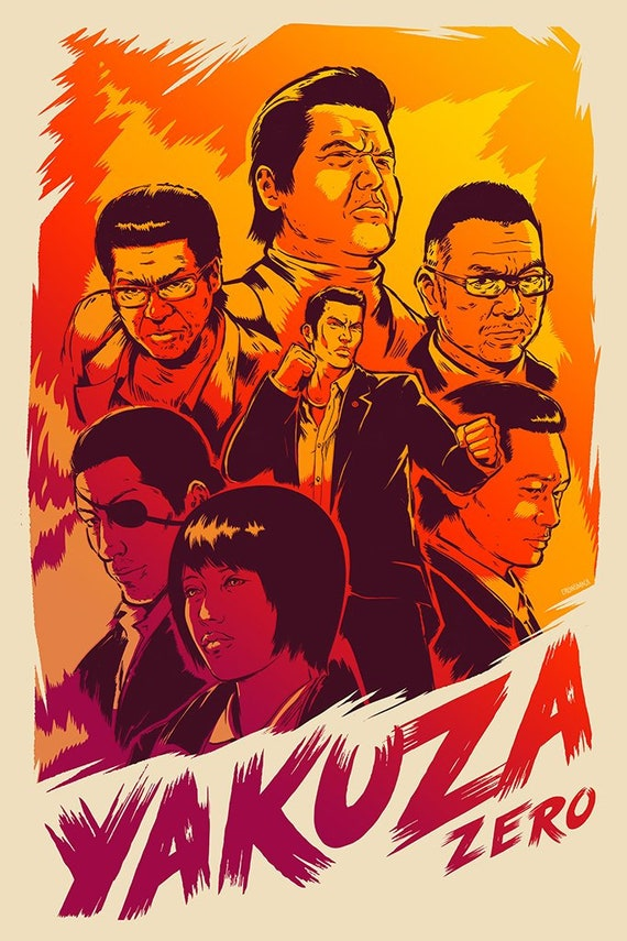 Prints Gamer Room Decor Poster YAKUZA ZERO Video Game Poster Video Game Art