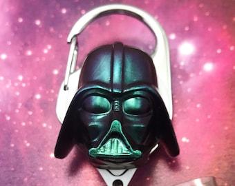 Darth Vader Star Wars Nerd Geek Badge Reel Retractable ID Holder Nurse CNA CPhT Technician Mens Womens Resin Carabiner Color Shifting Belt