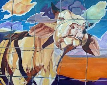 The Girl Next Door Cow Portrait