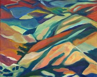 Original Fine Art Painting Mountain Landscape