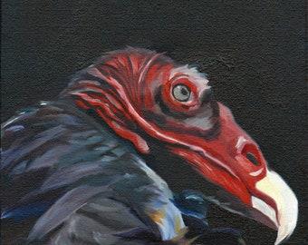Turkey Vulture Fine Art Painting
