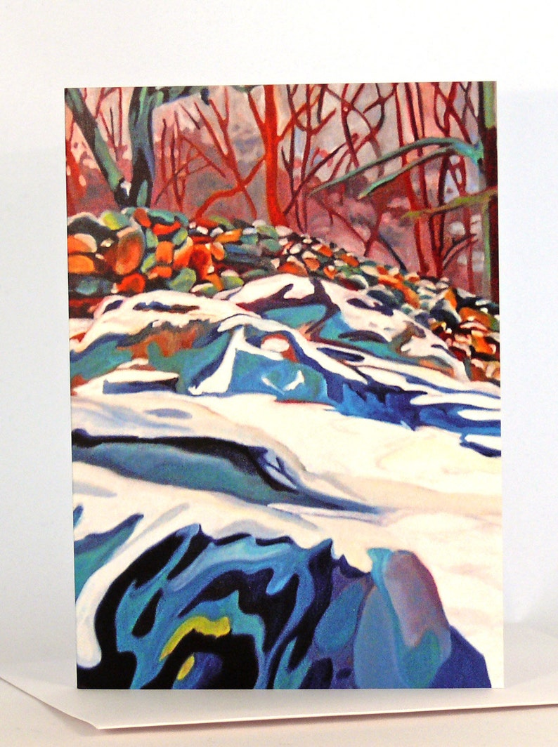 Winter Snows Fine Art Greeting Cards Pack of Five