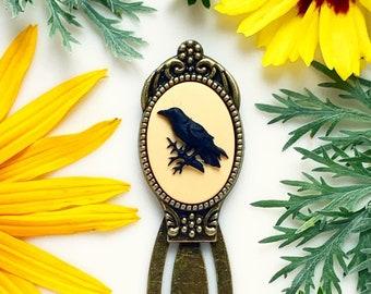 Raven Bookmark Raven Cameo Crow Bookmark Edgar Allan Poe Lover Gift Book Lover