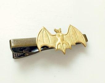 Bat Tie Clip Halloween Wedding Gothic Tie Clip