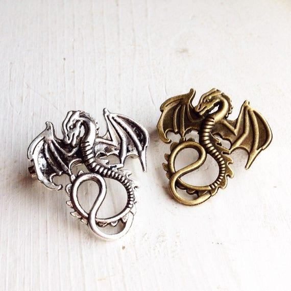 Dragon pin,Dragon Brooch Large Handmade Dragon Gift for Dragon Lovers